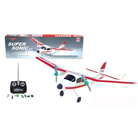 Ready! Set! Race! 20u0022 Wingspan Super Sonic RC Remote Control Plane - Red
