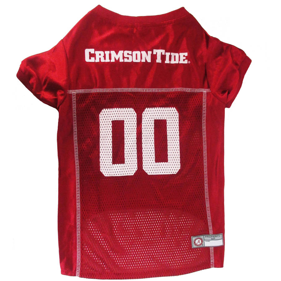 Pets First College Alabama Crimson Tide Collegiate Dog Jersey, Available in Various Sizes