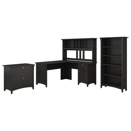 - Bush Furniture Salinas 60W L Shaped Desk Office Suite in Vintage Black