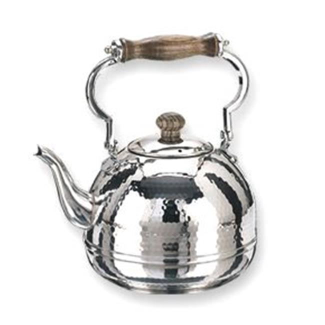 Hammered Teakettle with Wood Handle  2 Qt.