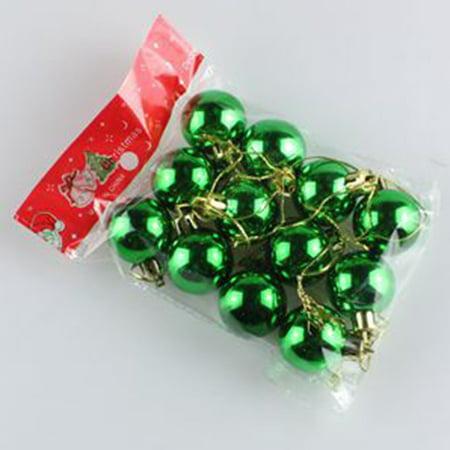 12Pcs Hot Sale Christmas Tree Xmas Balls Decorations Fashion Bauble Hanging Party Drop Pendant For DIY Xmas Party ()