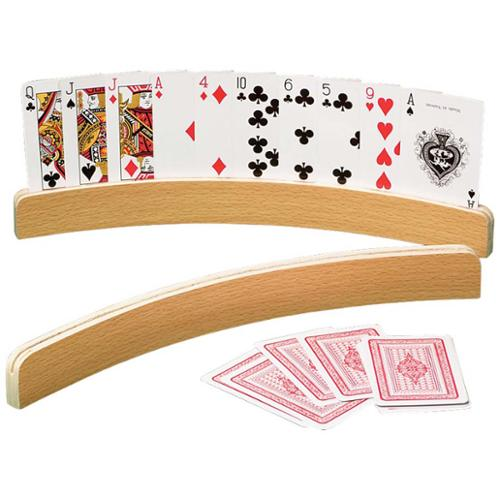 Miles Kimball   Curved Wooden Card Holders Set/2