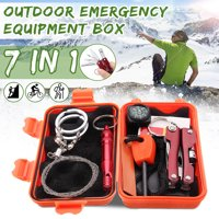 SOS Survival Kit First Aid Survival Gear Tool Kits Emergency Equipment Supplies Package Box for Outdoor Hiking Camping