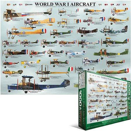World War I Aircraft 1000 Piece Puzzle Jigsaw Puzzle - 26.5x19