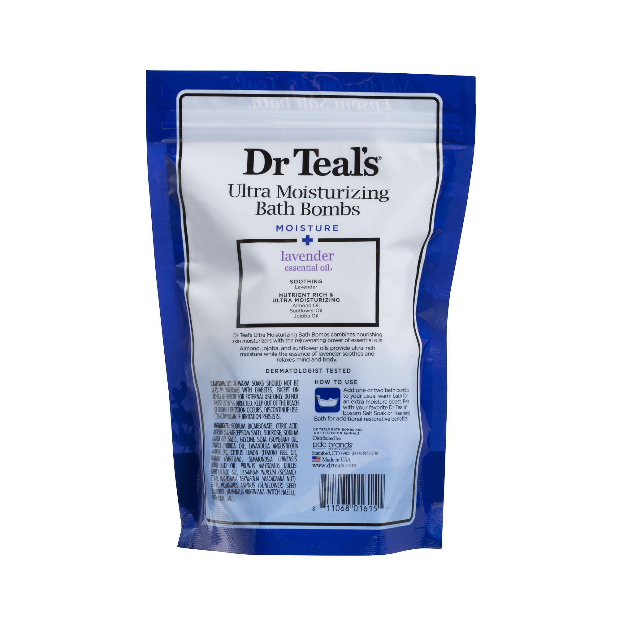 Dr Teal\'s Ultra Moisturizing Bath Bombs - Lavender - Walmart.com
