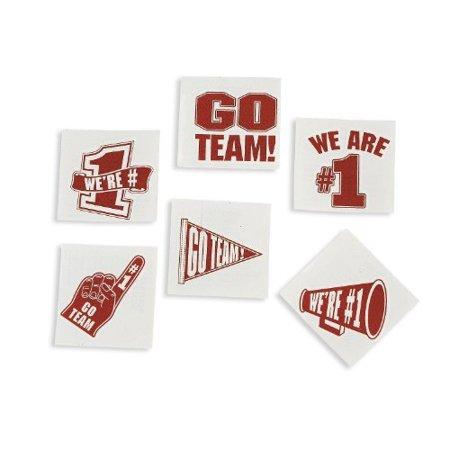 6 Dozen Case Collection - Red Go Team Tattoos 6 dozen