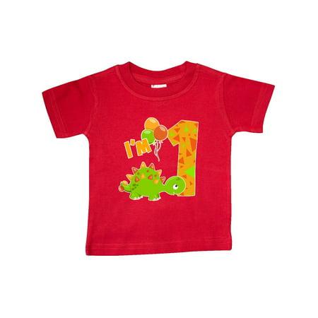 50e5b6147 Inktastic - Happy Dinosaur First Birthday-green Baby T-Shirt - Walmart.com