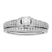 Sofia  14K White Gold 1ct TDW IGL Certified Round Cut Bridal Set