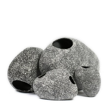 Ceramic Rock Cichlid Stone Cave for Shrimp and Fish Aquarium Decoration Fish Tank Pond Ornament
