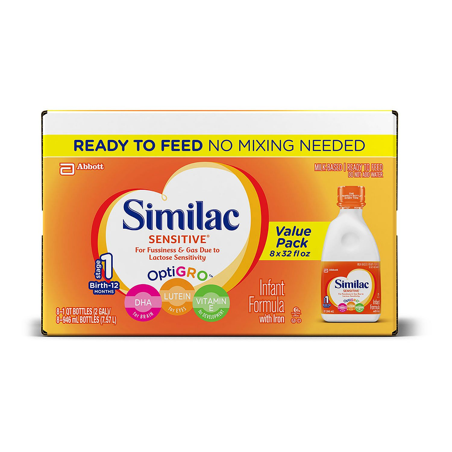 Similac Sensitive Ready To Feed Infant Formula With Iron ...