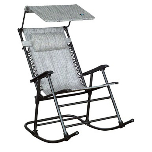 Jacquard Bliss Hammocks GFR-091SR Outdoor Rocking Chair with Canopy