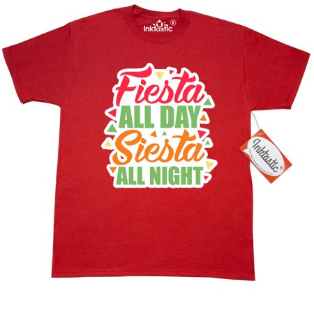 Inktastic Fiesta All Day Siesta All Night With Colorful Triangles T-Shirt Cinco De Mayo Adult Celebration Holiday May 5 Mexican America Culture Mens Clothing Apparel Tees T-shirts](Cinco De Mayo Celebration Ideas)