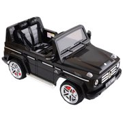 costway mercedes benz g55 12v electric kids ride on car truck licensed rc remote control