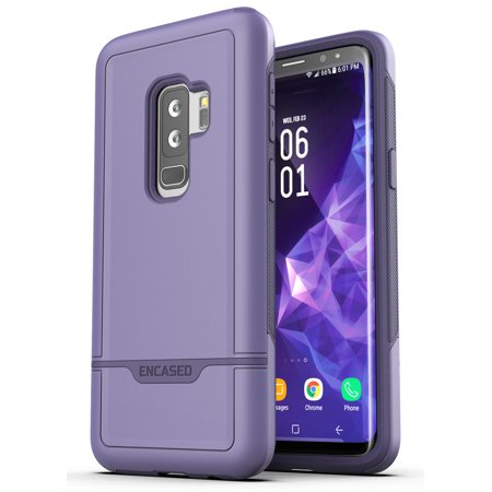 Galaxy S9 Plus Commuter Case Rugged Military Armor Protective Phone Holder ()