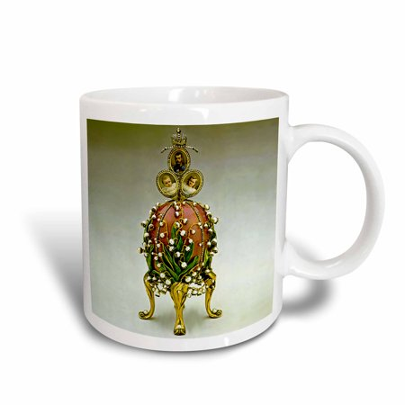 3dRose Picturing Faberge? Egg Lilies Of The Valley, Ceramic Mug, 11-ounce