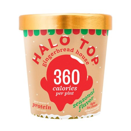 Halo Top, Gingerbread House Ice Cream, 1 Pint