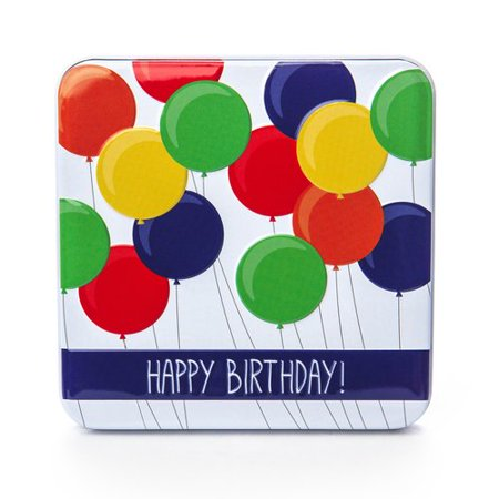 Give A Gift Birthday Balloons Card Holder Tin