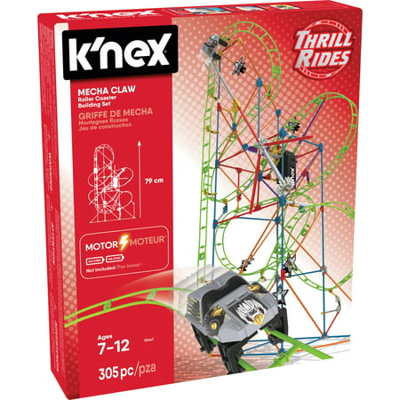 Knex Thrill Rides Mecha Claw Roller Coaster Building Set