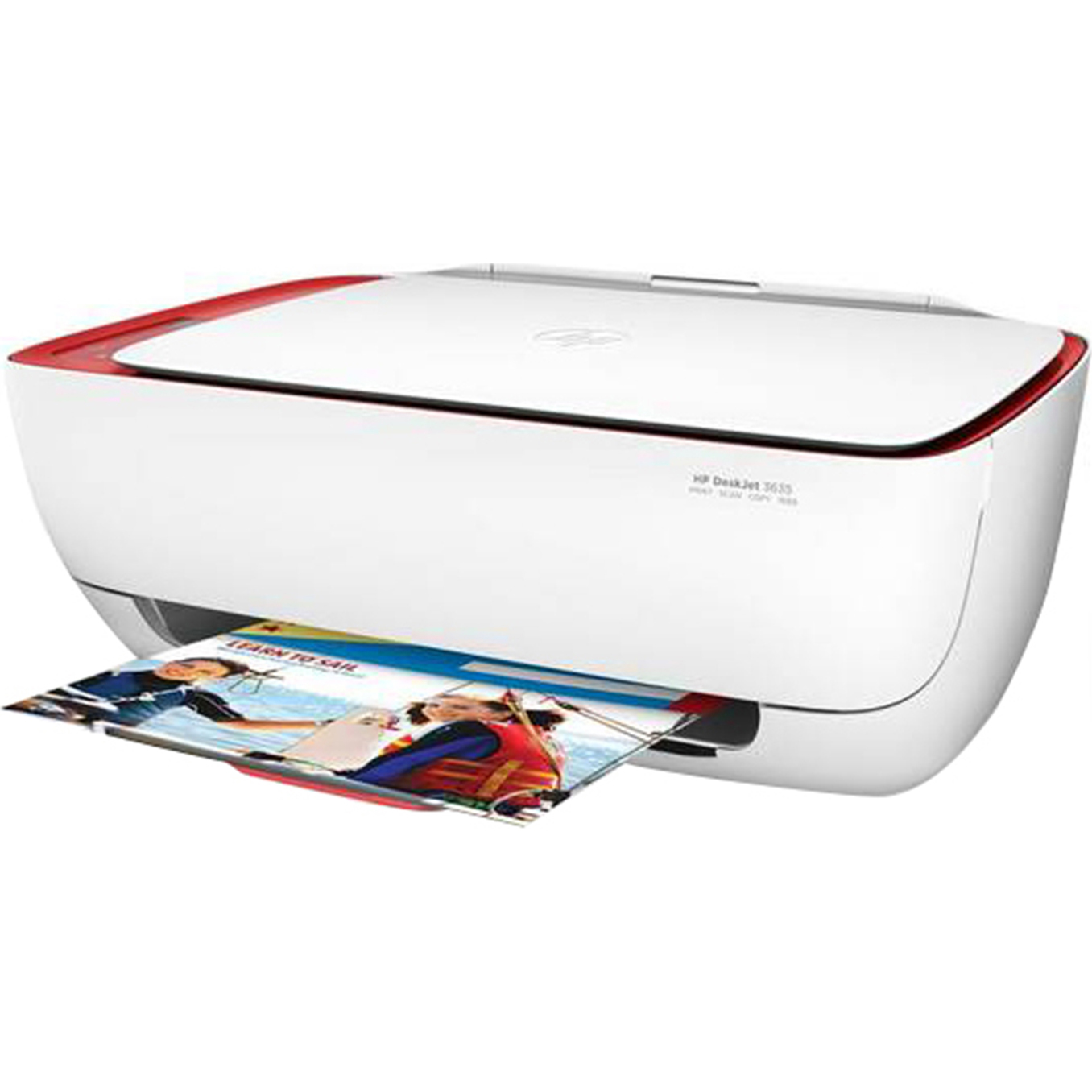 Refurbished HP DeskJet 3630 All-in-One Wireless Printer, Red