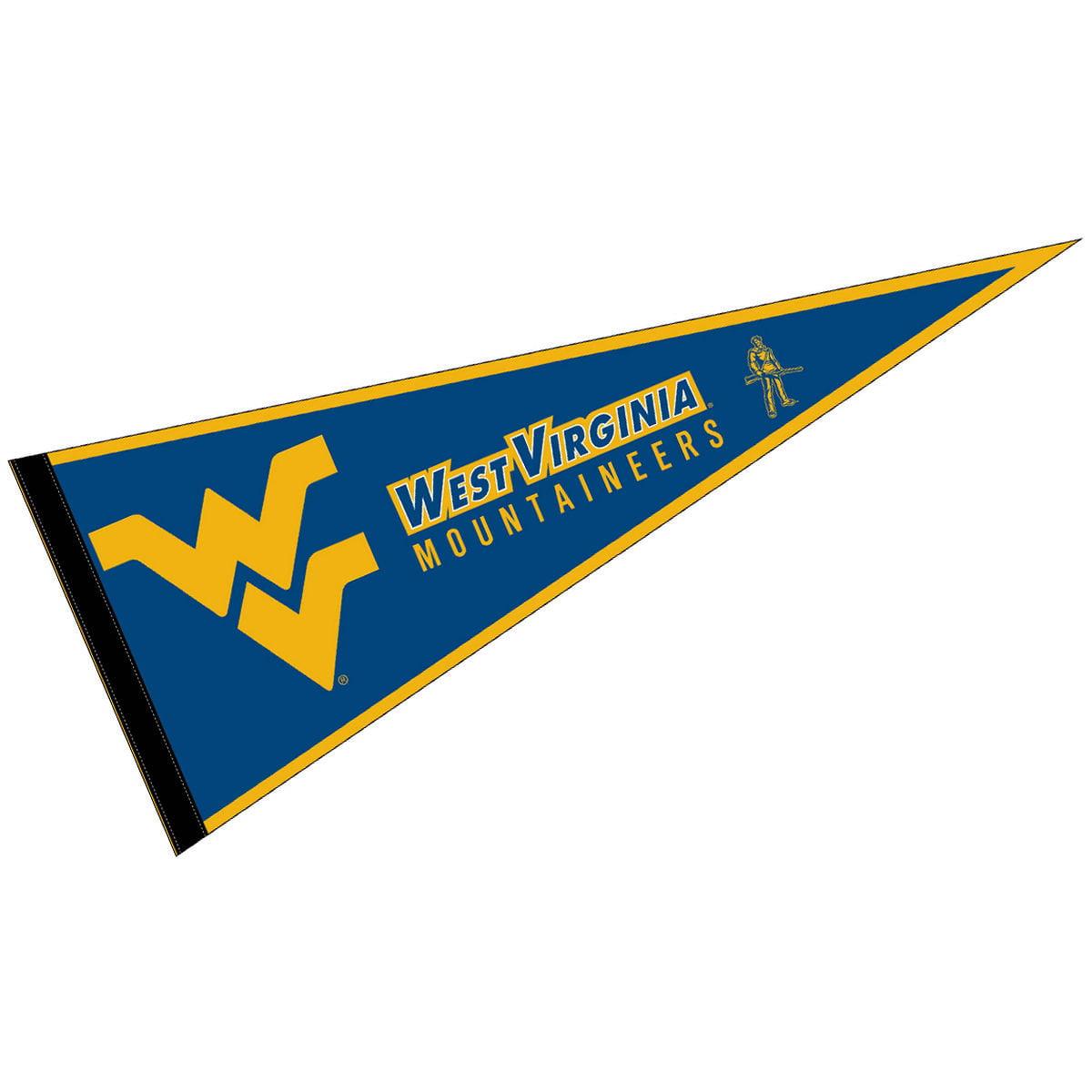 "West Virginia Mountaineers Blue 12"" X 30"" Felt College Pennant"