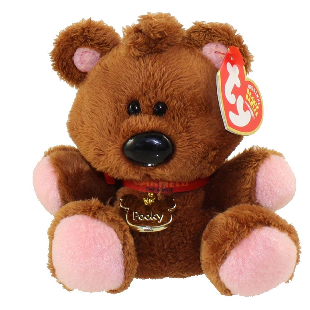 TY Beanie Baby - POOKY the Stuffed Animal Bear (Garfield Movie Beanie) RARE! (5 inch)