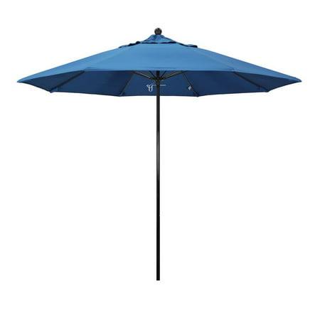 California Umbrella Oceanside Series Patio Market Umbrella in Pacifica with Black Fiberglass Pole Fiberglass Ribs Push Lift ()