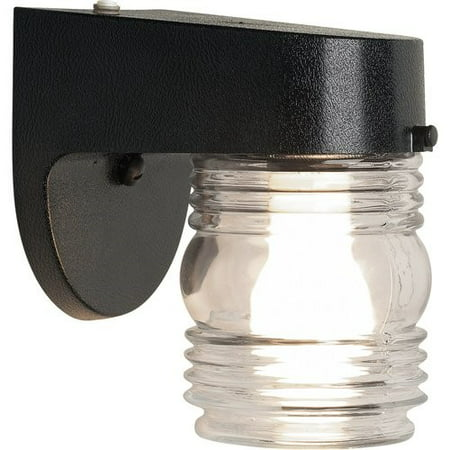 Brink's Jelly Jar Dusk To Dawn Activated Security Light, Matte Black ()