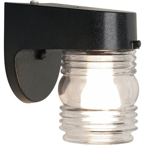 Brink's Jelly Jar Dusk To Dawn Activated Security Light, Matte Black