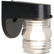 Dusk to dawn outdoor lighting brinks jelly jar dusk to dawn activated security light matte black aloadofball Image collections