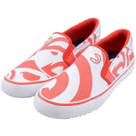 Atlanta Hawks Slip-On Canvas Shoes - Red