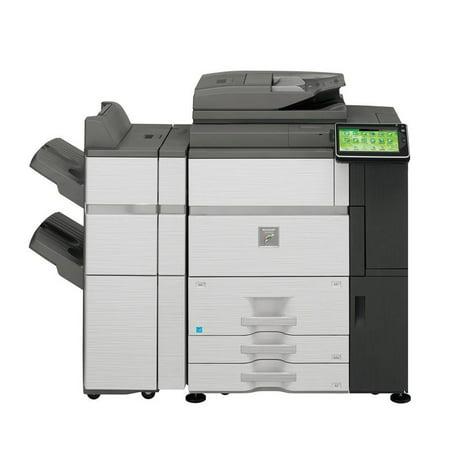 Refurbished Sharp MX-6240N Color Laser Production Printer - 62ppm, Print, Copy, Scan, Auto Duplex, Network, 1200x1200 dpi, 2 Trays, Tandem Tray, FN19 Stapling Finisher