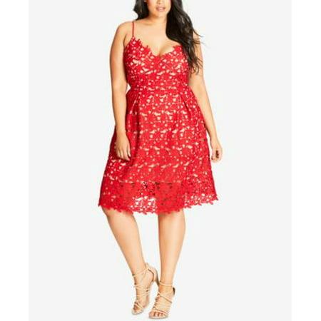 City Chic Plus Size Trendy So Fancy Lace Dress 20W - Fancy Dress Halloween Plus Size
