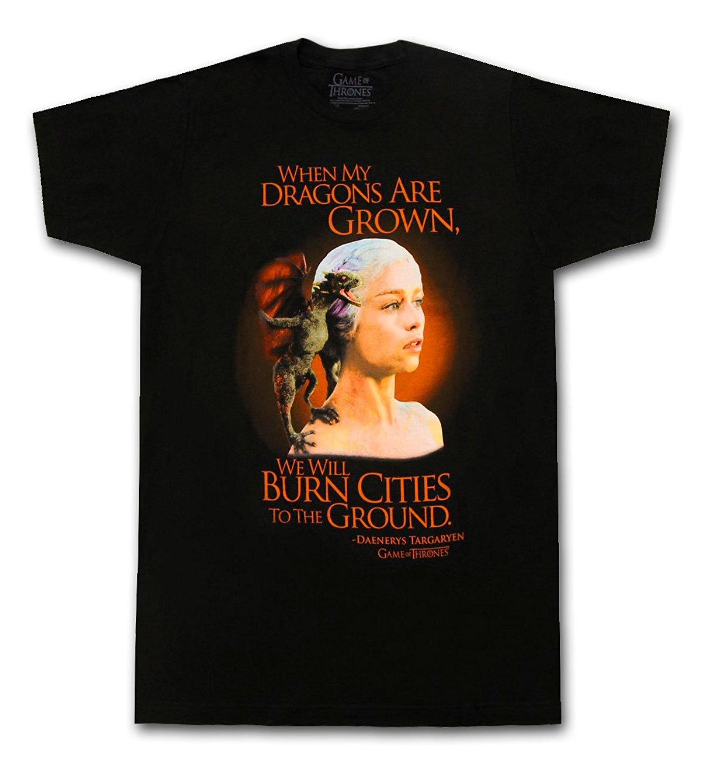 Vintage Retro T-Shirt When My Dragons are Grown WE Will Burn Cities to The Ground