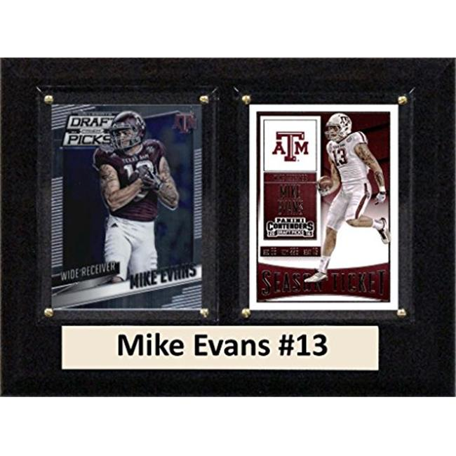 """C & I Collectables NCAA 6"""" x 8"""" Mike Evans Texas Am Aggies 2 Card Plaque"""