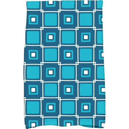 "Simply Daisy 16"" x 25"" Square Pop Geometric Print Kitchen Towel"