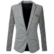 Back to College Gifts & Accessories Men's Notched Lapel Long Sleeve Premium Blazer Jacket (Size S / 36)