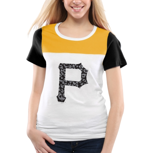 Pittsburgh Pirates 5th & Ocean by New Era Women's Team Jelly Athletic T-Shirt - White