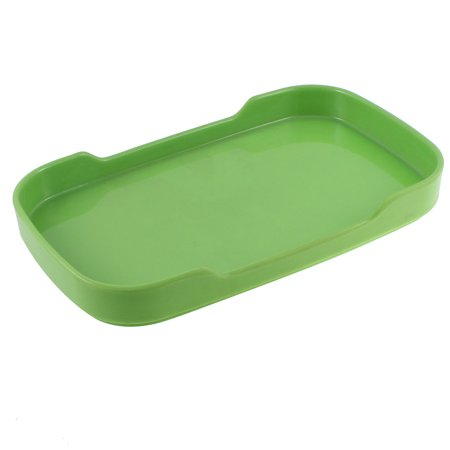 Unique Bargains 8.5'' Food Fruit Plastic Rectangle Shaped Tray Dish Plate Tablewear ()