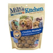 Milo`s Kitchen Home-Style Dog Treats Chicken Meatballs, 18.0 OZ