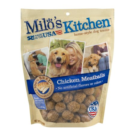 Milo\'s Kitchen Home-Style Dog Treats Chicken Meatballs, 18.0 OZ ...