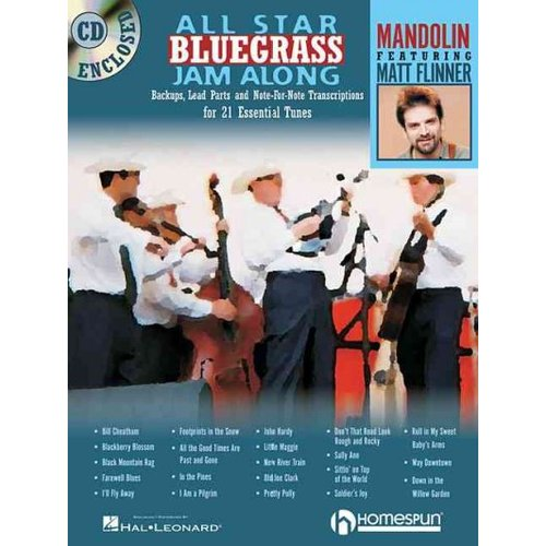 All-Star Bluegrass Jam-Along: For Mandolin : Backups, Lead Parts and Note-for -Note... by