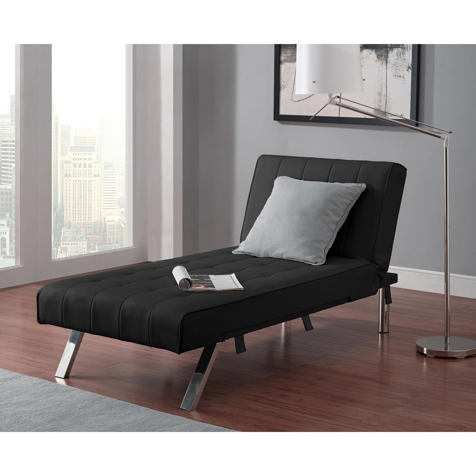 emily futon chaise lounger multiple colors  walmartcom -