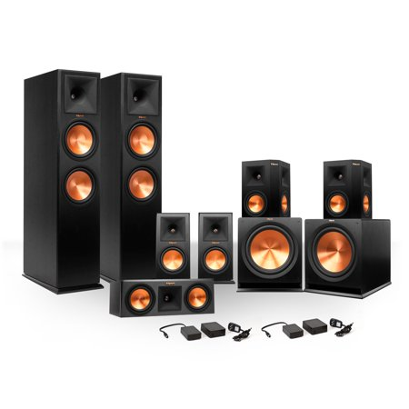 Klipsch 7.2 RP-250 Reference Premiere Surround Sound Speaker Package with R-110SW Subwoofers and Two FREE... by