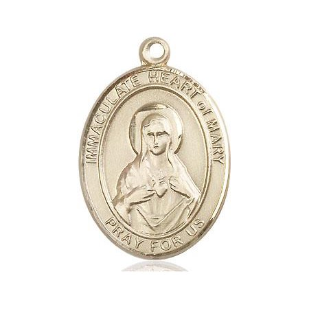 Immaculate Heart of Mary Medal in 14 KT Gold Filled
