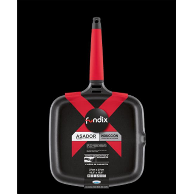 Fundix F2-IP27 Griddle with Removable Handle - Red