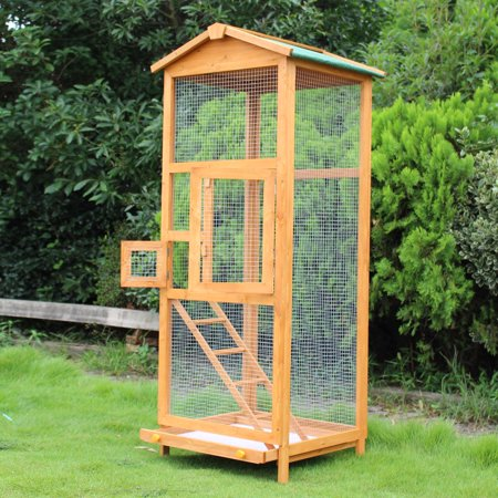 """65"""" Wooden Vertical Extra Large Flight House Outdoor Aviary Bird Cage (Large Flight Birdcage)"""