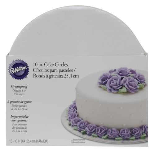 Wilton 10-Inch Round Cake Boards, White, 10-Count