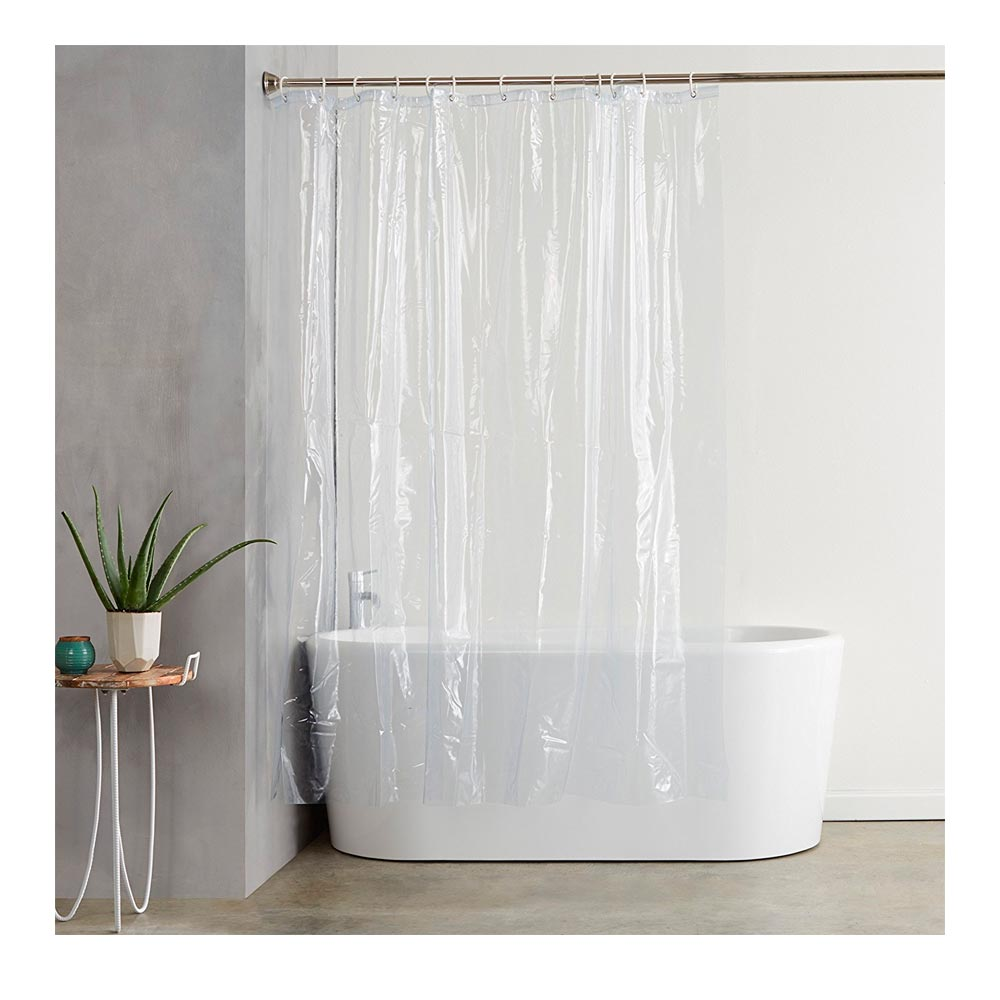 Transpa Shower Curtain Liner 100 Vinyl 70x72 Magnetic Mildew Resistent New