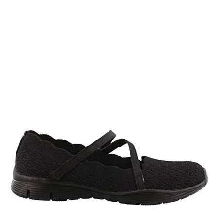 40e2b08f5132 Skechers Women S Seager-Strike Out-Scalloped Engineered Knit Mary Jane Flat