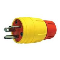 ERICSON Plug,Industrial,6-20P,20A,250VAC,Yellow 1516-PW6P-AM